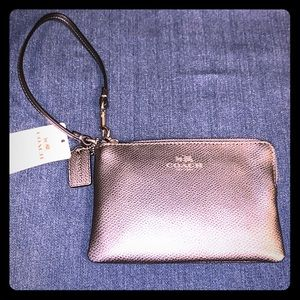 Coach Silver wristlet TAGS ON